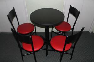 vendo juego de sillas y mesas para su negocio posot class