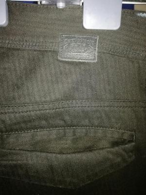 Pantalón Negro Lino Grueso