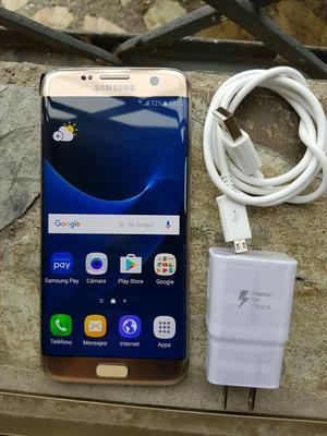 Samsung Galaxy S7 Edge Dorado Como Nuevo