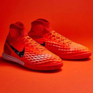 Guayos Nike Magista X Proximo 2 Red Suela Lisa Futsal Micro