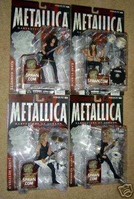 Cosechadoras De Dolor Metallica Figura Conjunto De 4 Indivi