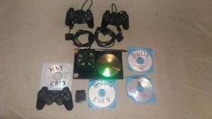Play Stations 2 con 5 Juegos 3 Controles