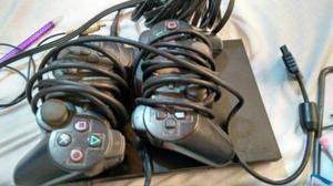 Playstation 2 De Segunda + Dos Controles Y Memoria De 8mb