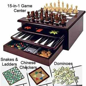 Board Game Set - Deluxe 15 In 1 Tabletop !