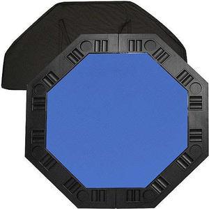 Mesa Octagonal De Póker Para 8 Personas, Azul Trademark