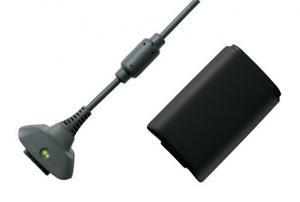 Xbox 360 Negro Kit Carga Y Juega