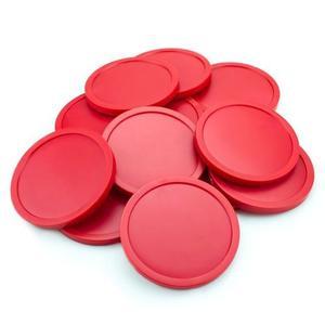 Docena De Discos De Hockey Brybelly Grande 3 1/4 Inch Rojo