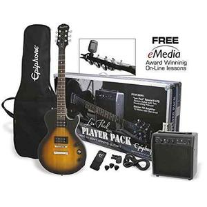 Epiphone Les Paul Paquete De Guitarra Eléctrica, Vintage Su