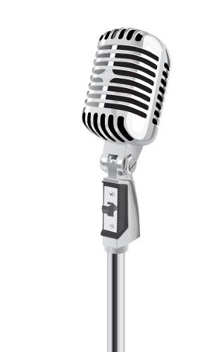 Microfono Profesional Retro Takstar Ta55 C Con Base Tripode