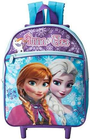 Morral Escolar Con Ruedas Para Niñas Disney Frozen Azul