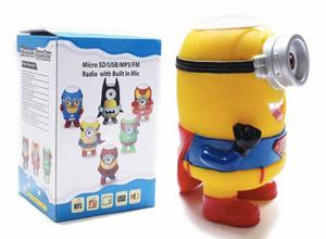 Parlante Bluetooth Minion Iron Man Recargable Sd Usb