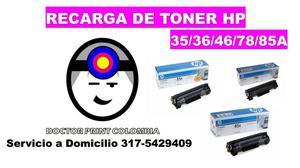 RECARGA DE TONER HP 12A 35A 36A 49A 78A 85A...