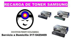 RECARGA TONER SAMSUNG 101s 111s 104s 205...