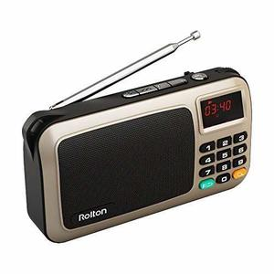 Radio Rolton W405 Mini Portátil Usb Para Pc Ipod Dorado
