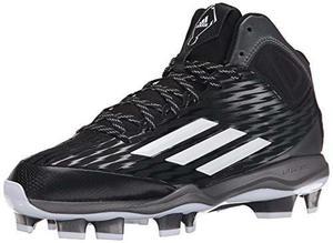 Zapato adidas De Béisbol Negro Blanco Gris Metálico 11,5 M