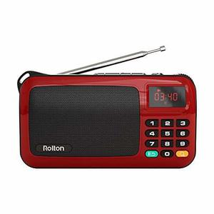 Radio Rolton W405 Mini Portátil Usb Para Pc Ipod Rojo