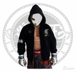 buso abierto en negro muay thai style MMA pro, marca knock