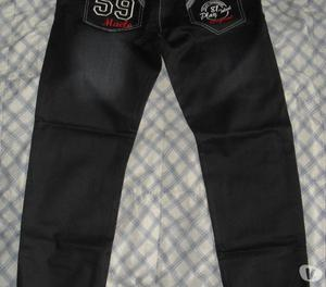 Black jean m tipo cuero degradado NEGRO PROCESADO bolsillos