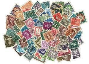 Lote 100 Estampillas Estampilla Antiguas Antigua Coleccion
