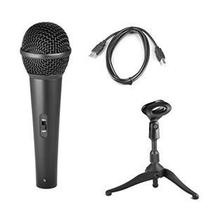 Micrófono Dinámico Pyle Pdmicusb6 Usb Con Tripoide Y Cable