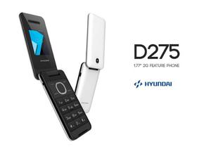 Telefono Celular Hyundai D275 Blanco, Negro