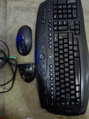 Combo de Teclado Y Mouse Inalámbrico Log