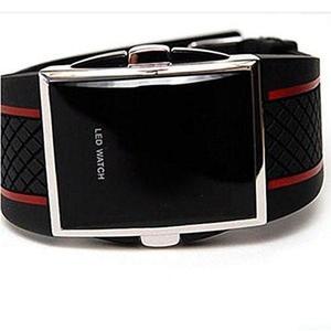 Wangyue Hombre Deporte Reloj Led Digital Reloj Negro Rojo
