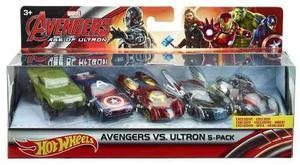 50% Off Set Carros Hot Wheels Marvel Avengers Niños Mattel