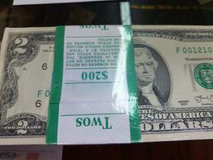 Billetes De 2 Dolares. Nuevos Y Usados.