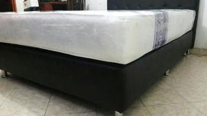 Cama Base 120x190 Negra Nueva