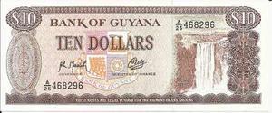 Guyana 10 Dolares