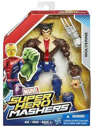 Marvel Super Hero Mashers Wolverine Figure !