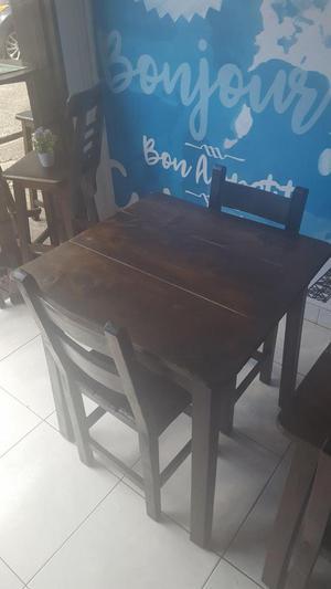 Mesas y Sillas para restaurante o hogar
