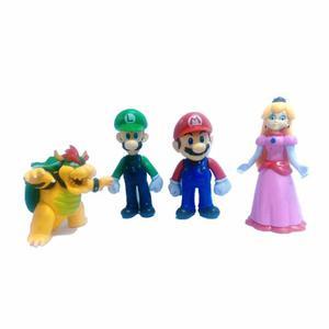 Set Juguetes Super Mario Bros 4 Figuras