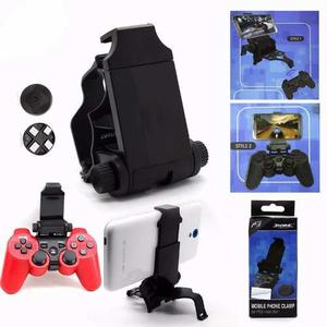 Control Play 3 Ps3 Bluetooth Gancho Holder Celular Android