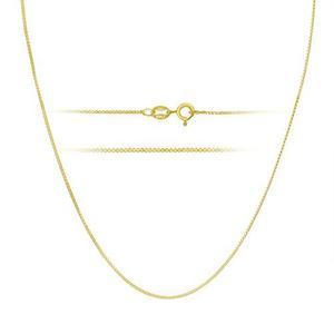 Oro 18k Sobre Plata Esterlina 1mm Collar De Cadena