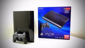 Ps3 Play 3 Super Slim 250 Gb Nueva + 20 Juegos Garantia