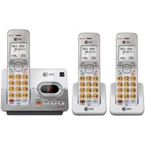 At&t Telefono Inalambrico Set De 3 Telefonos