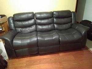 Sofa Doble Reclinable con Porta Vasos.