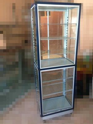 Vitrina vidrio y aluminio