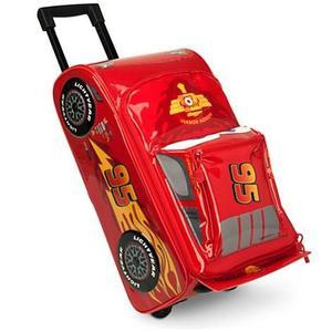 El Rayo Mcqueen Cars Con Sonido, Maleta Con Ruedas Disney