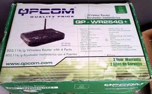 Router Inalambrico Qpcom Qp-wr254g+ Switch 4 Puertos