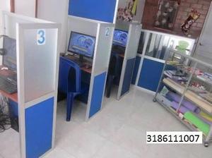 Sala De Internet, Montaje Completo De Cabinas Telefónicas