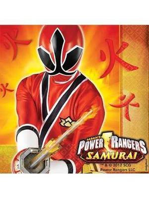 Power Rangers Samurai Almuerzo Servilletas