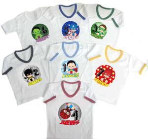 Semanario Bebe Niño Super Heroes 7 Camisetas Baby Monster
