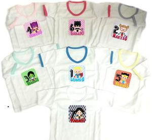 Set Semanario Super Bebe Niña 7 Camisetas Baby Monster