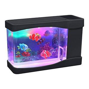Acuario Artificial Lightahead Pecera Con Luz Led Multicolor