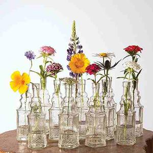 Botellas De Vidrio Luna Bazaar Small Vintage Glass Bottl