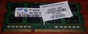 Memoria Dimm de 4 GB para portatil
