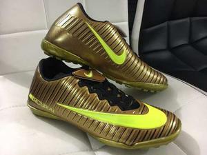 Nike Mercurial Fútbol 5 Y 11 Dorados Edicion Especial